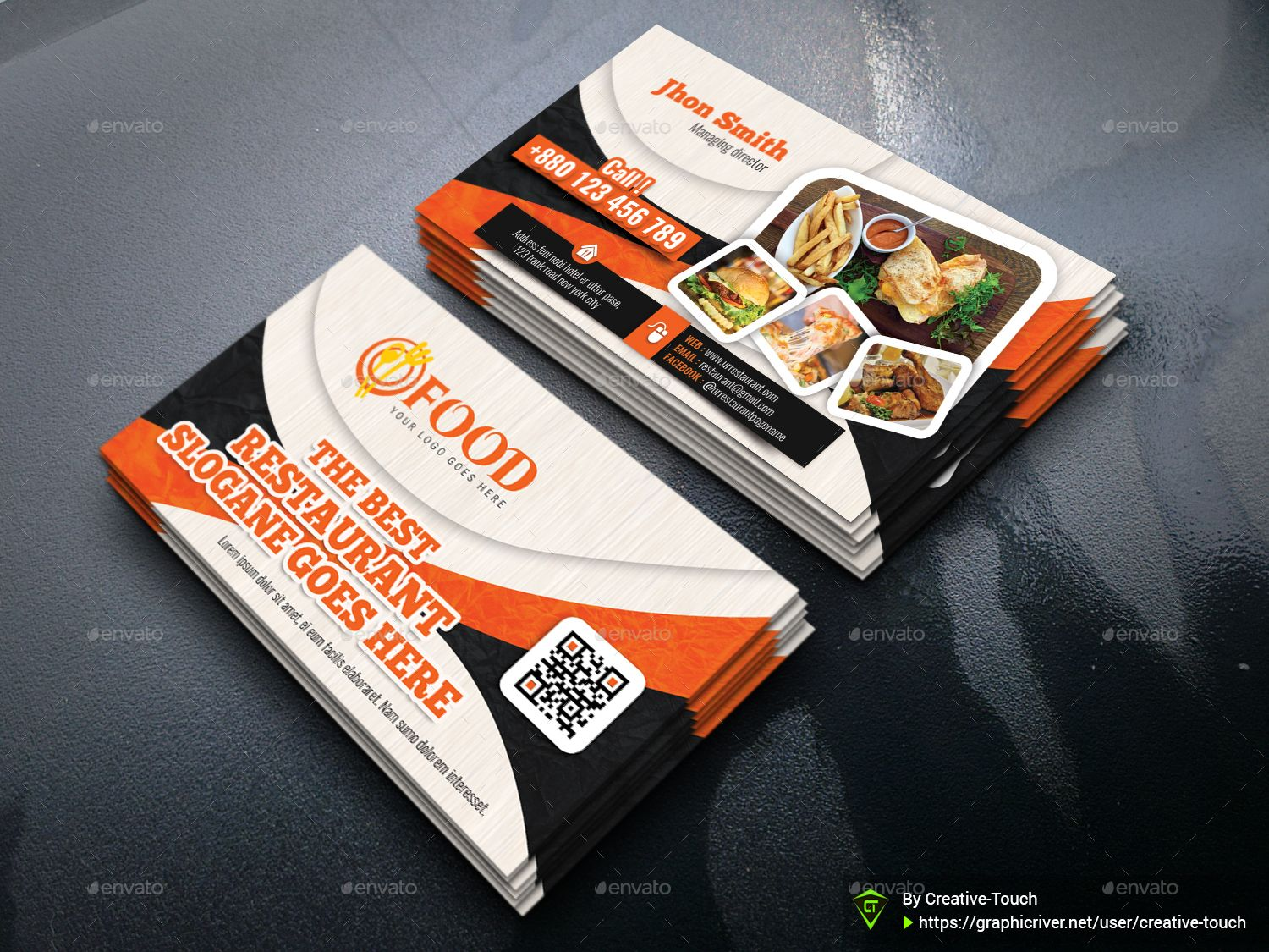 Restaurant Business Card Restaurant Business Cards Create