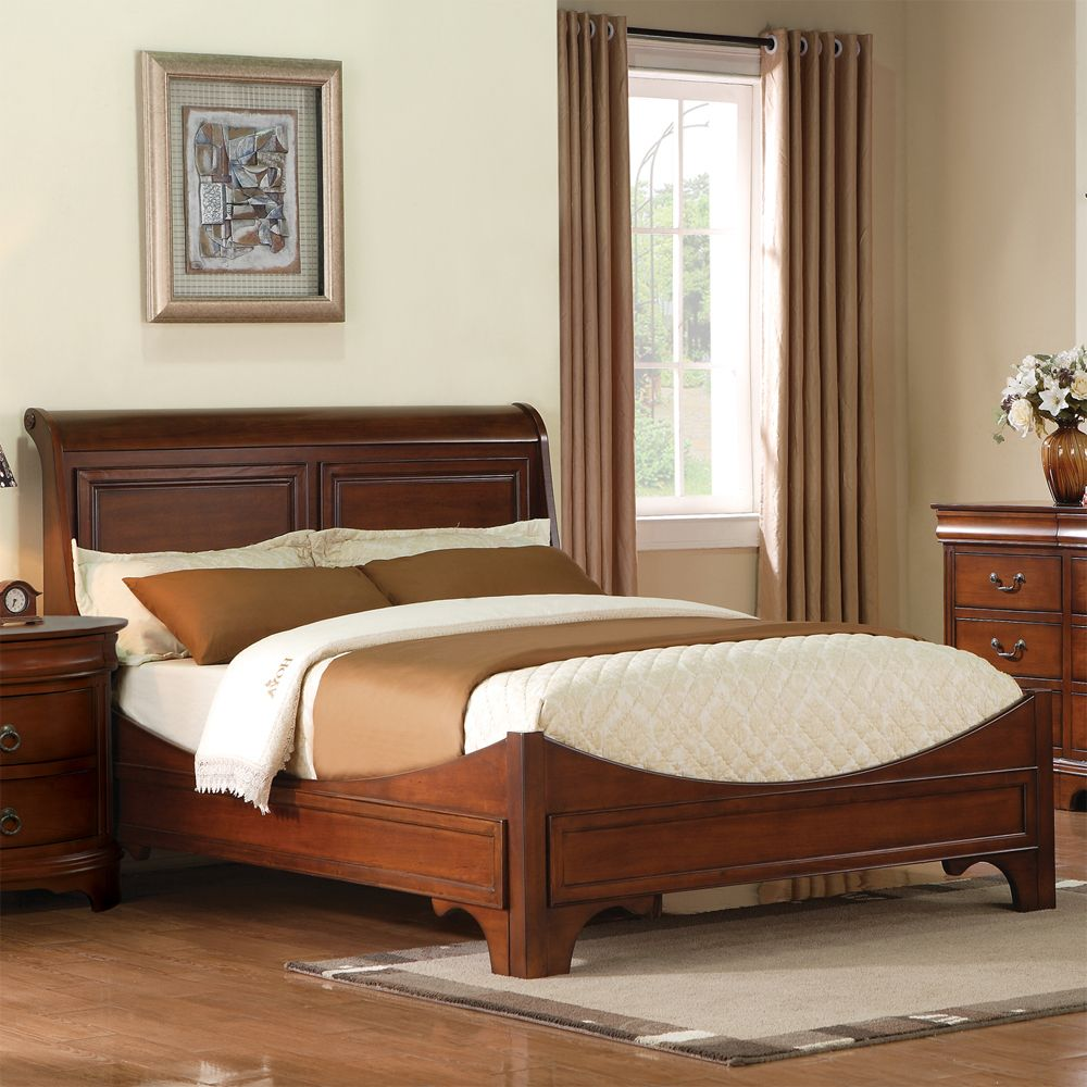 renaissance wood sleigh bed by winners only wooden bed headboard sleigh frame beds in 2019. Black Bedroom Furniture Sets. Home Design Ideas