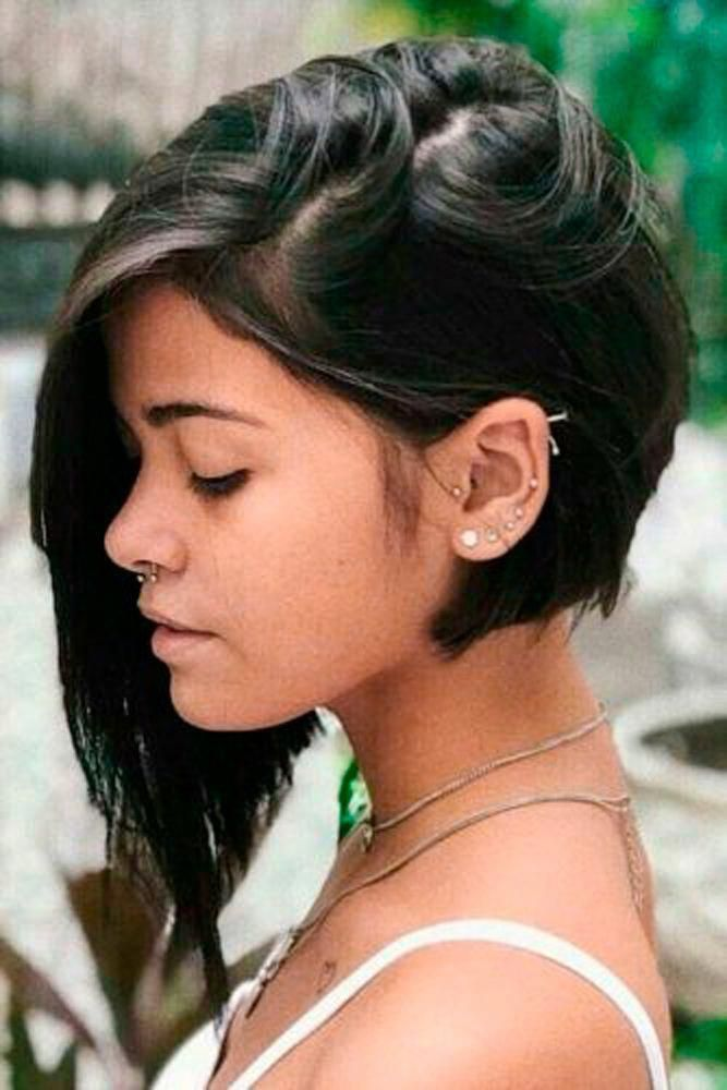 Asymmetrical Levels #asymmetricahairstyle #shorthairstyles ★ Do you know how modern edgy bob haircuts can change your look for the better? Read this post and see our ideas to rock 2019 with a perfect cut! Long layered bobs with bangs, short blunt ideas, inverted and choppy cuts, and lots of inspo-pics are here! #glaminati #lifestyle #edgybobhaircuts #shortbobhaircutswithbangs #edgybob