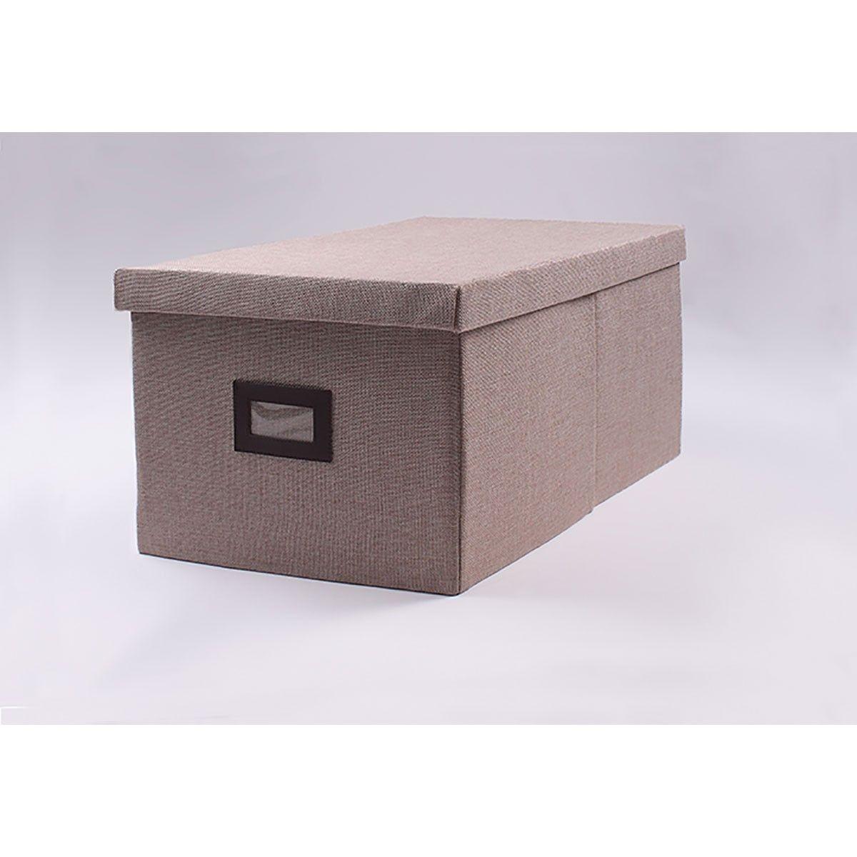 Boite De Rangement Polyester Lot De 3 Taille Taille Unique Boite De Rangement Rangement Et Boite