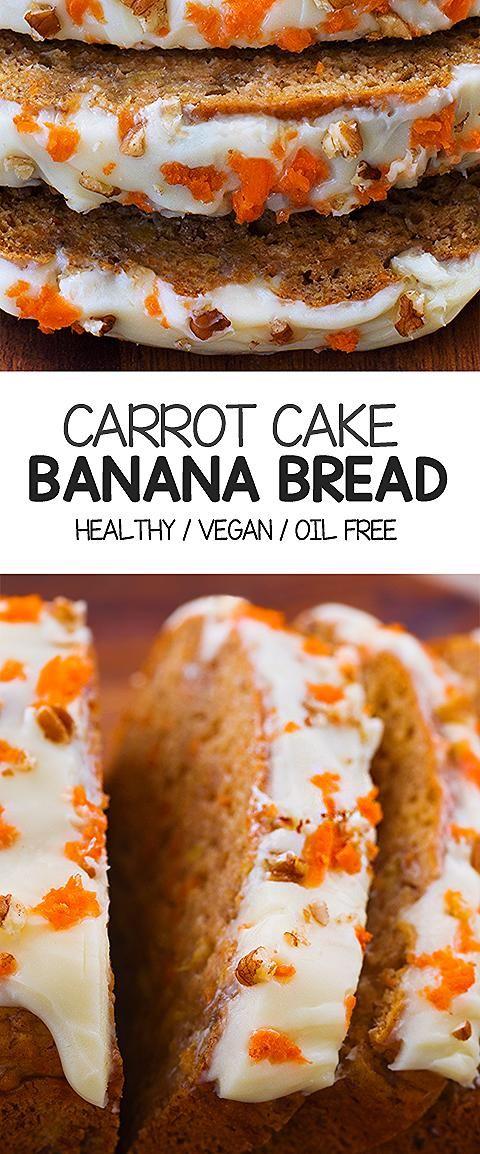 Photo of Super Healthy Carrot Cake Banana Bread Recipe