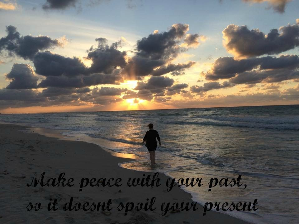 You can't change the things that happened in your life, but you can DECIDE how you interpret and respond to them. You can decide NOT to allow your past to DEFINE who you are.