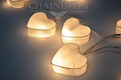 Weiß Herz Lichterkette Laterne Haus Deko,Wohnzimmer,Schlafzimmer,Lampen Hochzeit