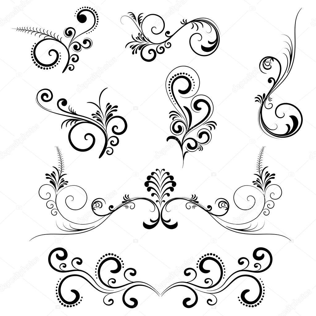 Piercing clip art  depositphotosFloralSwirlsg   decals