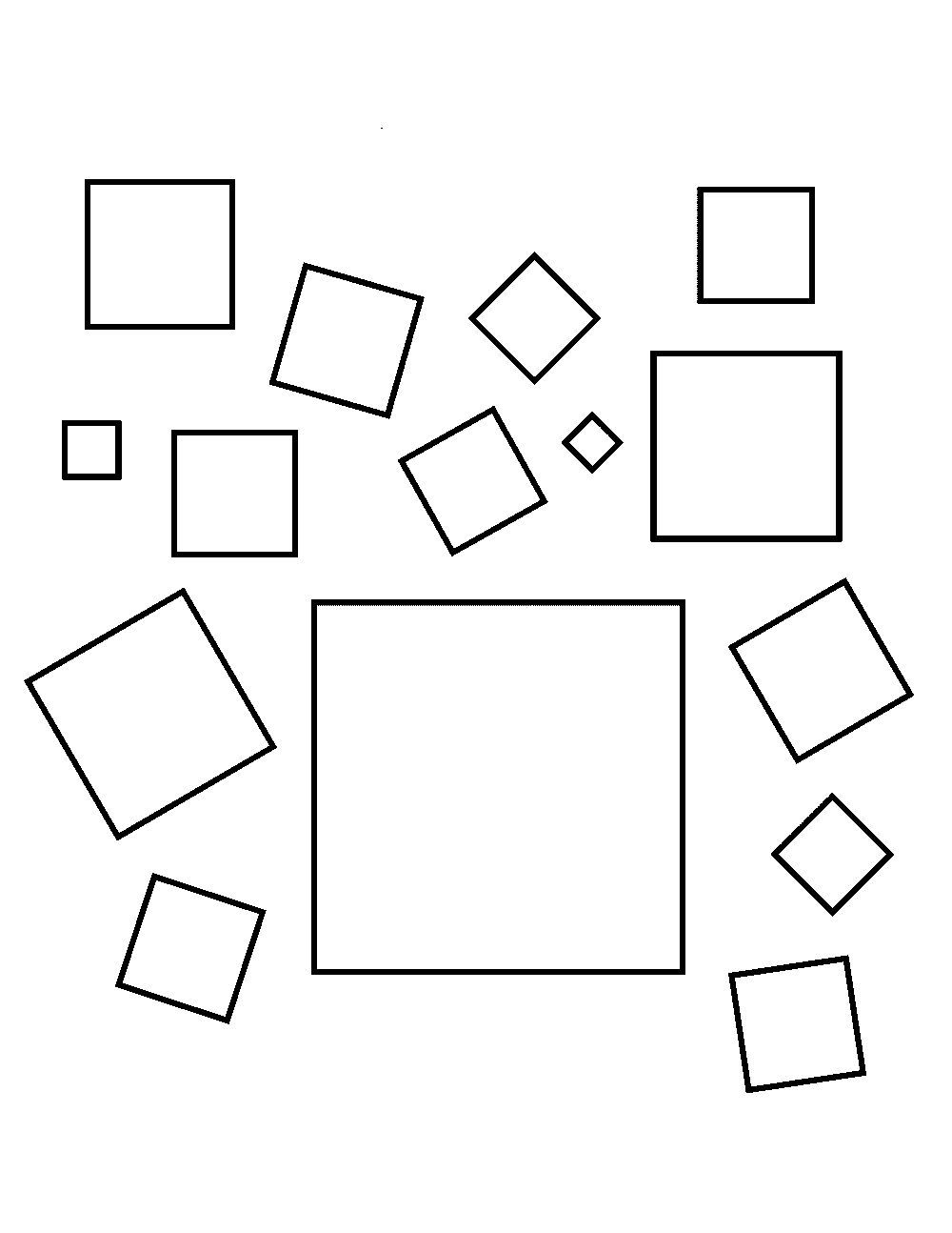 Shapes Squares Coloring Pages For Kids Ee1 Printable Shapes Coloring Pages For Kids