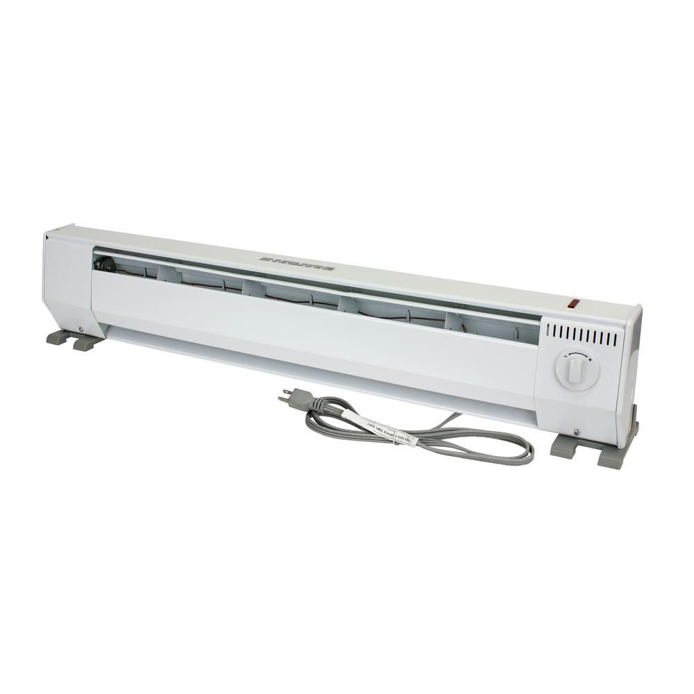King Kp Portable 3 Ft 120 Volt 1000 Watt Baseboard Heater In White Kph1210 Baseboard Heating Baseboards Electric Baseboard Heaters
