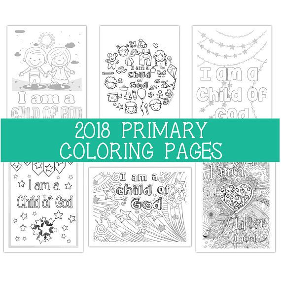 2018 Primary Coloring Pages 8.5x11 Six 6 | Gospel (Primary ...