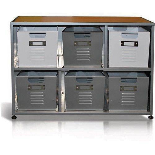 Locker Bookcase With Set Of 6 Bins Kids Rooms