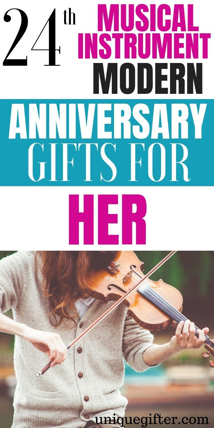 24th Musical Instrument Modern Anniversary Gifts for Her