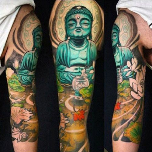 50 Peaceful Buddha Tattoo Designs That Restore Hope For The World Buddha Tattoo Design Buddha Tattoo Buddha Tattoo Sleeve