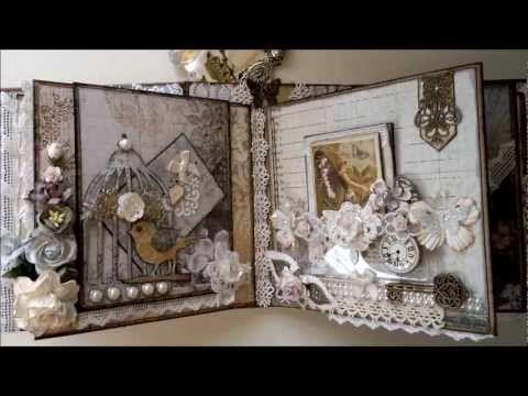 ▶ Nature Garden - romantic vintage mini album part 2 - YouTube