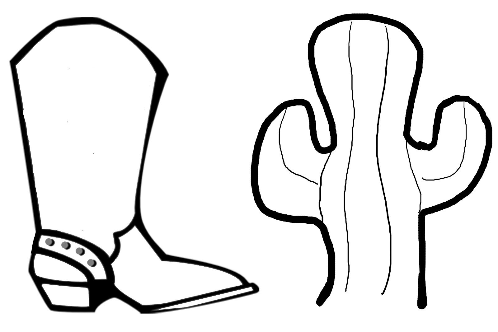 Printable coloring pictures of cowboy boots - Simple Western Coloring Pages Dust Off Any Old Rope You Might Have In The Shed