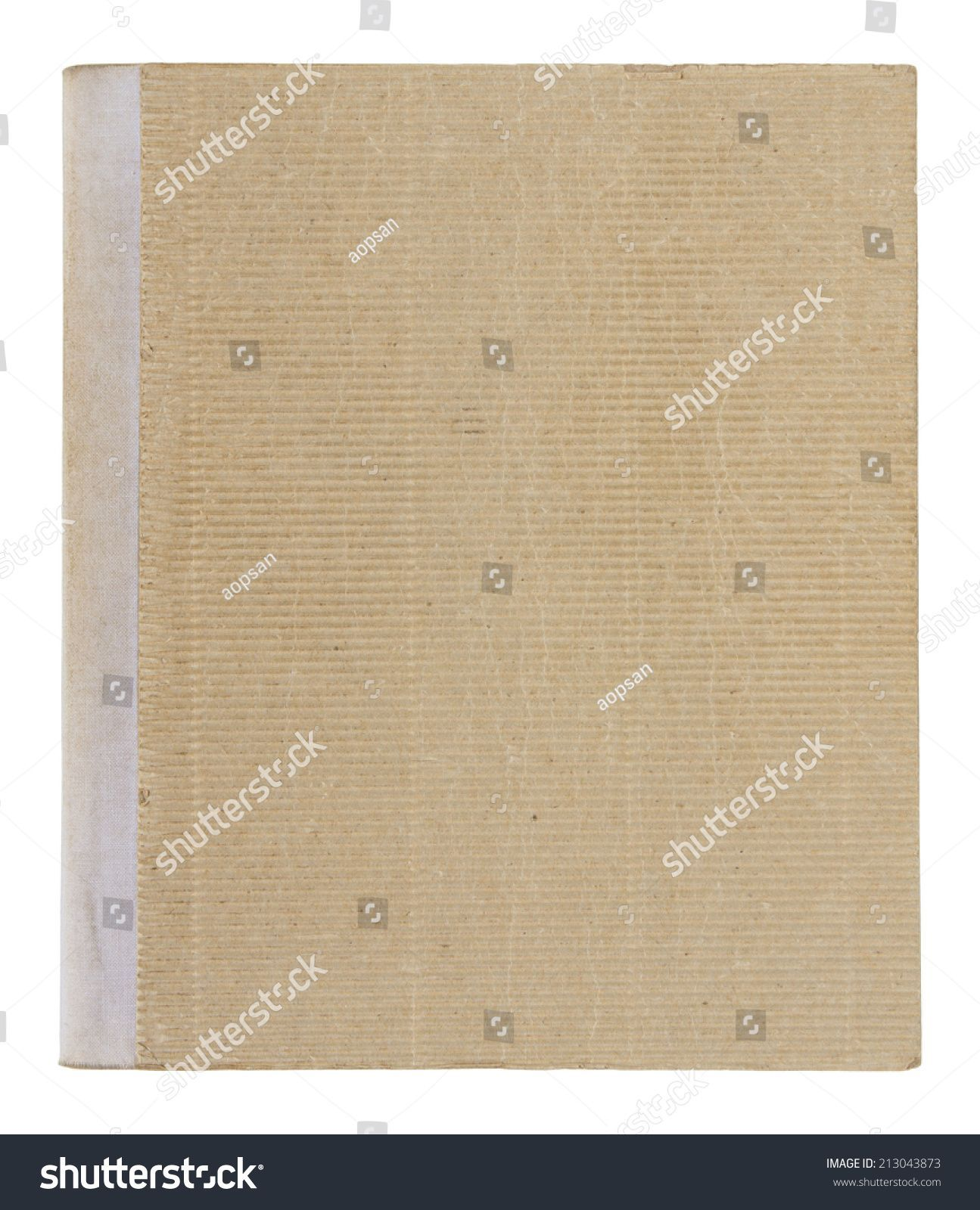 old book cover isolated on white background with clipping