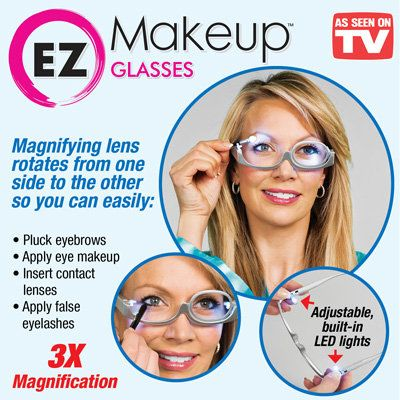 EZ Makeup Glasses w/ Magnifying Lens Glasses makeup