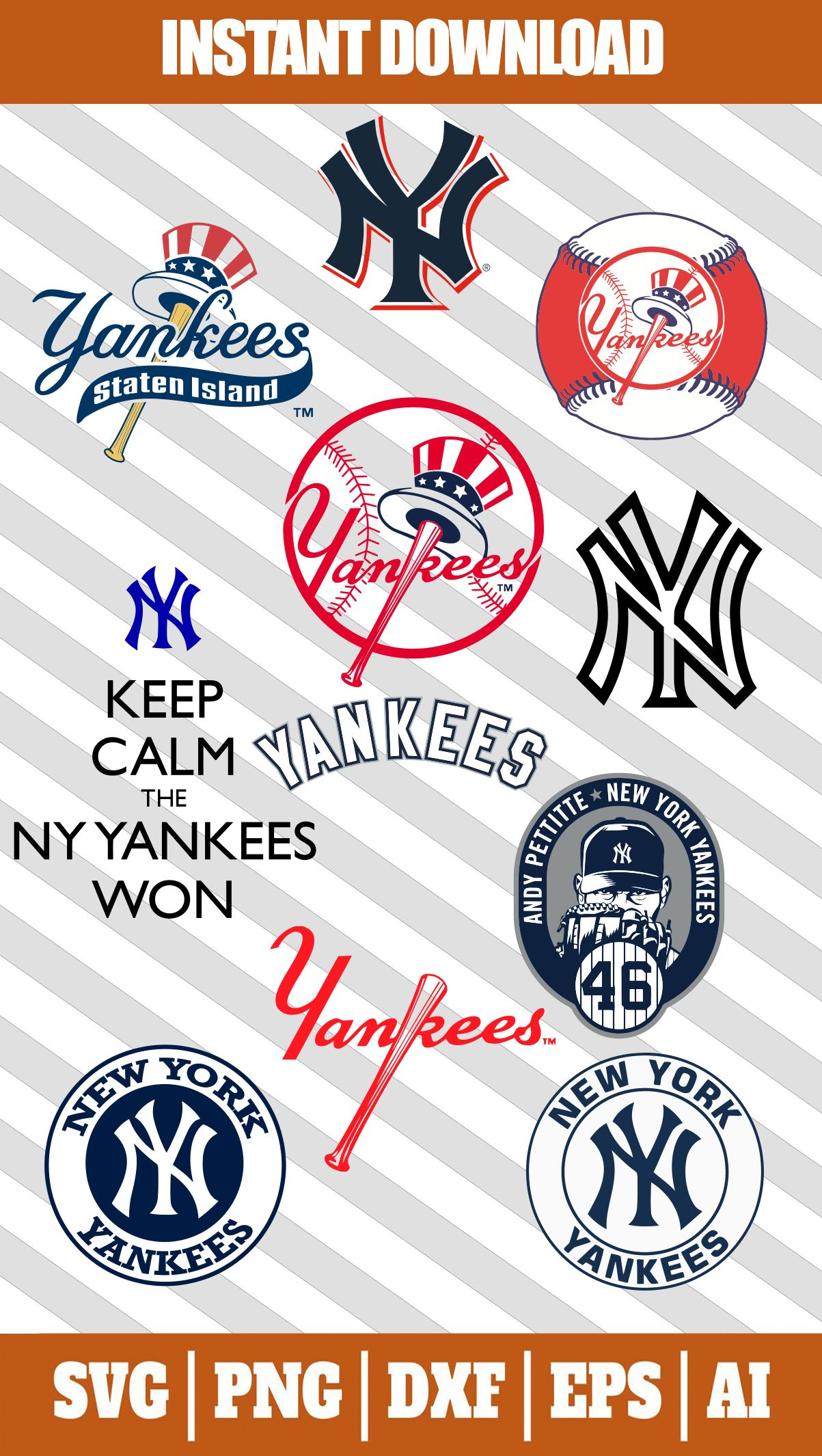 New York Yankees Logo Svg Files For Cricut In 2020 New York Yankees Logo Yankees Logo New York Yankees