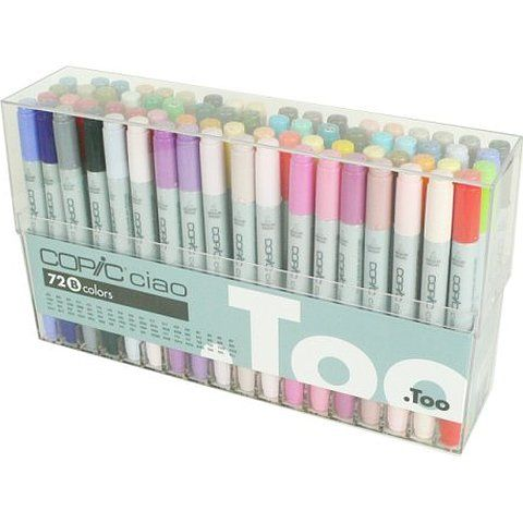 Too Copic Ciao 72 Color Set A Manga Anime Comic Markers Pens from Japan F//S