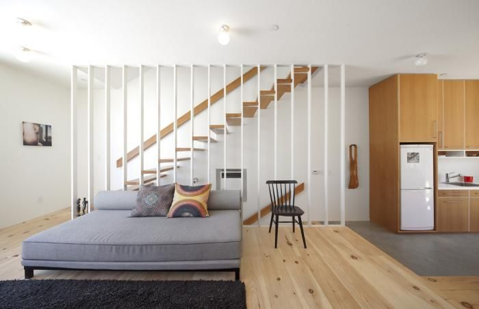 A Skinny Lot Where Less Is More Remodelista Stairs In Living Room Home Small Modern Home #open #stairs #in #living #room