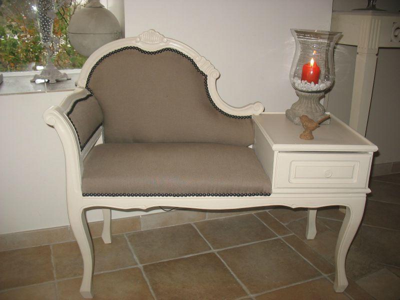 banquette telephone vendue d co pinterest table de t l phone fauteuils et meuble telephone. Black Bedroom Furniture Sets. Home Design Ideas
