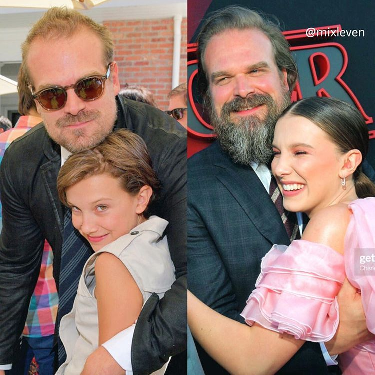 Father And Daughter Stranger Things Tv Bobby Brown Stranger Things Stranger Things Actors