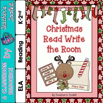 This free Christmas Vocabulary Cards Read Write The Room Activity is ...