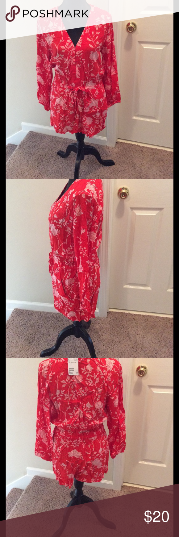 H&M Romper 100% viscose. Hook and Eye closure with drawstring waist. H&M Pants Jumpsuits & Rompers