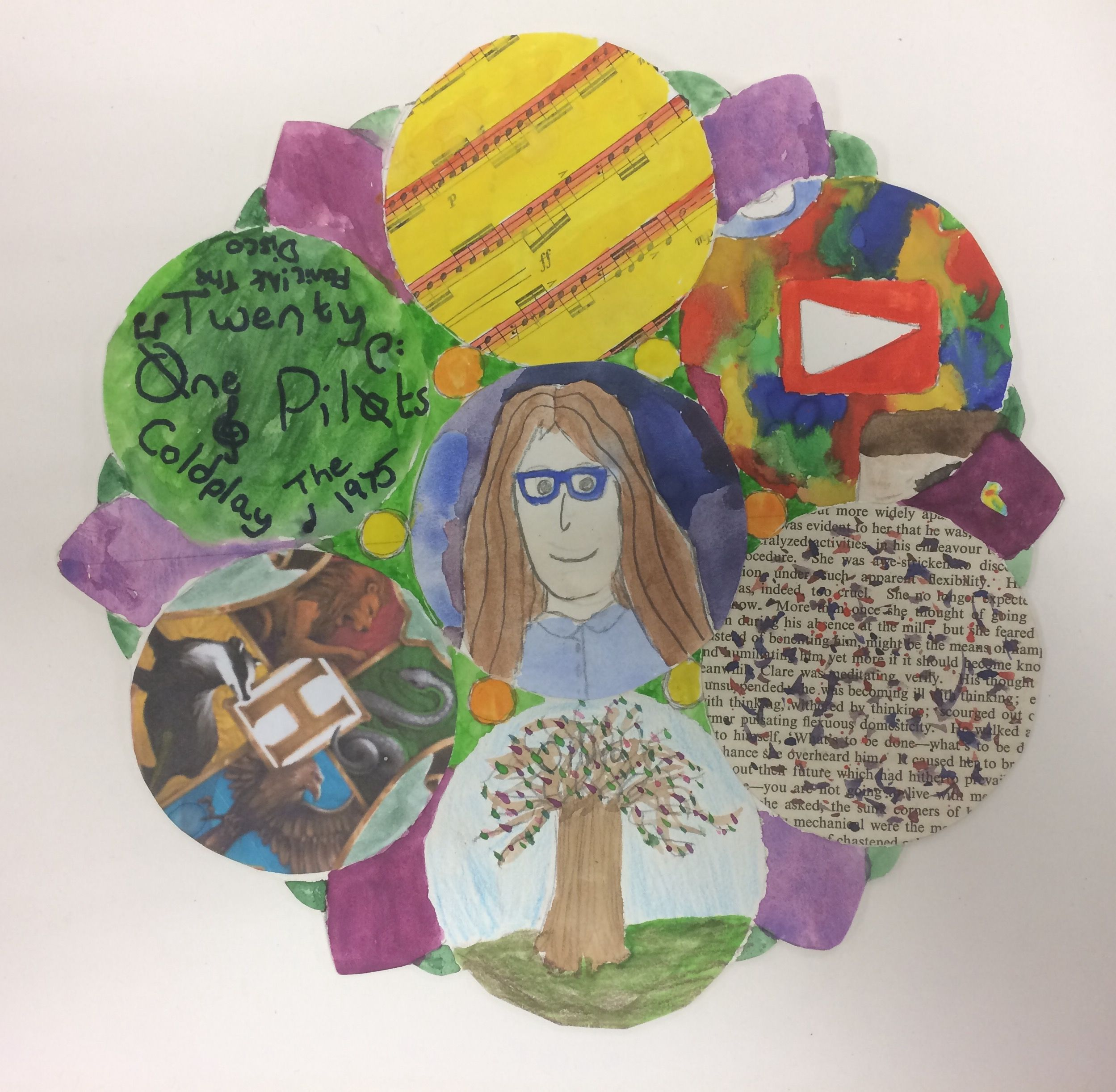 Final piece for the Y9 'This is Me' Project, St Marys Catholic High School