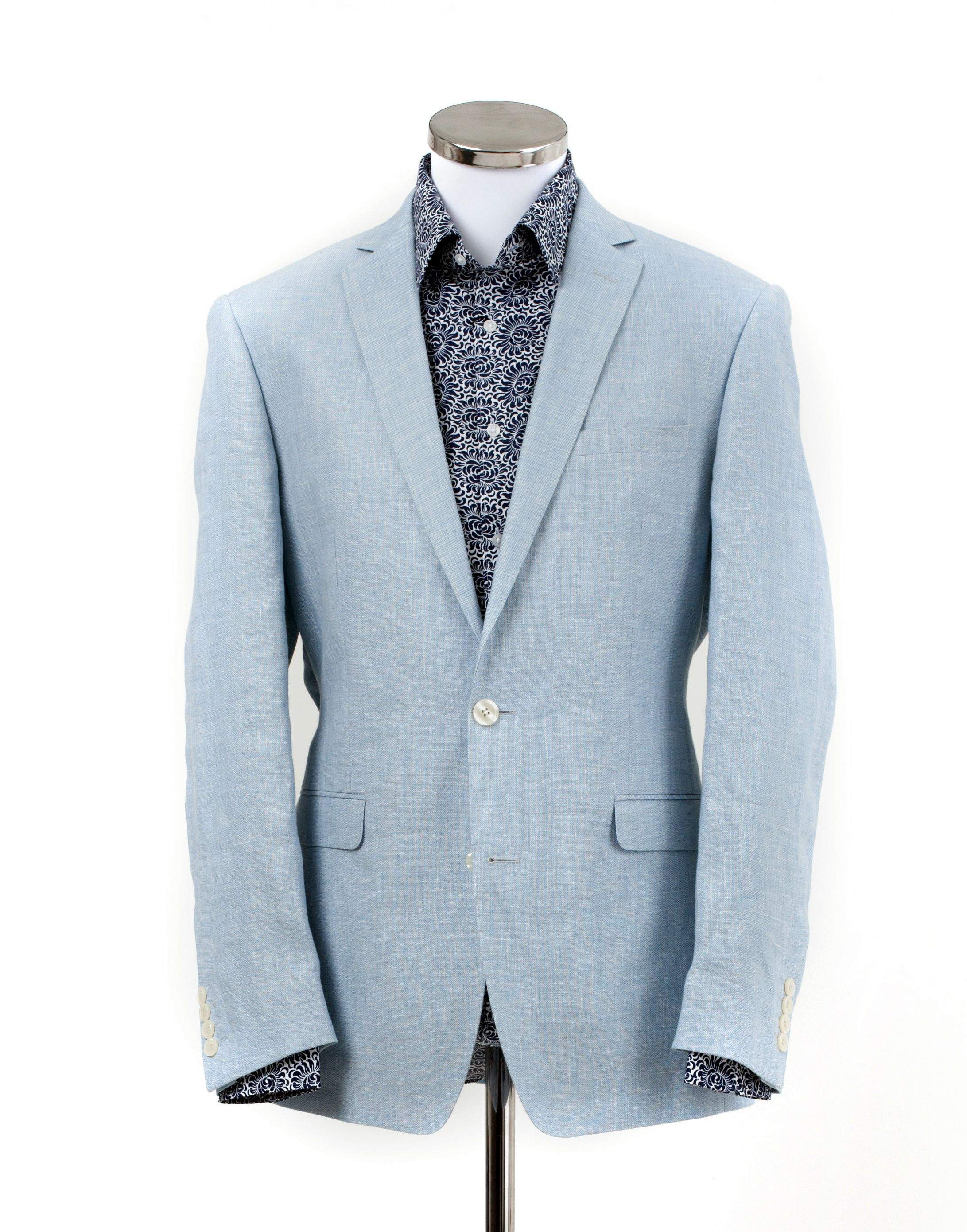 Blue Linen Jacket from William Young -love the colour combination ...