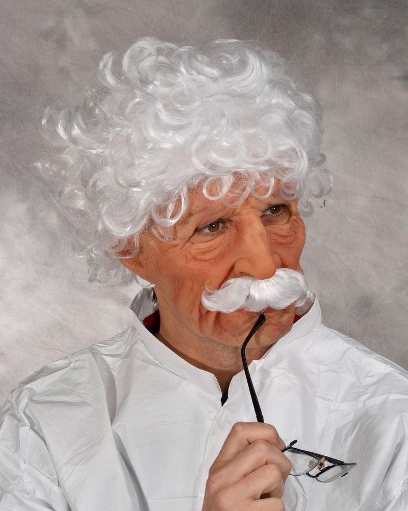 Old Man Mad Scientist Albert Halloween Mask Supersoft Moves with ...