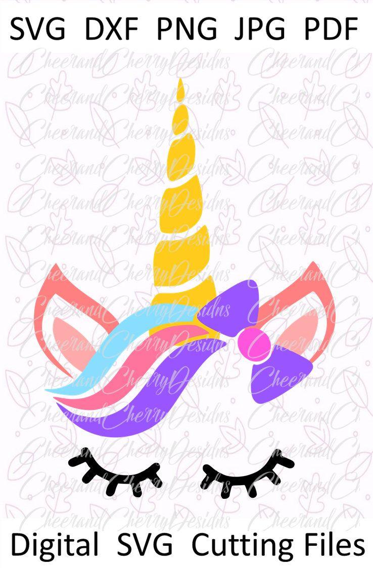 Unicorn clipart Unicorn silhouette svg Girl unicorn shirt svg eps png dxf Unicorn birthday svg Unicorn svg for cricut