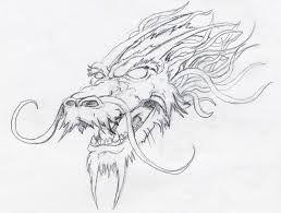 Resultado De Imagen Para Dibujos De Cabezas De Dragones A Lapiz Dragones Tatuajes De Dragones Japoneses Disenos De Tatuaje De Dragon