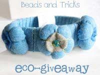Bracciali ecologici: Eco-Bangles e un regalo    Handmade by Beads and Tricks