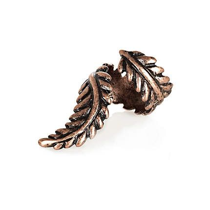 bronze twisted leaf ring - rings / belly bars - jewellery - women - River Island