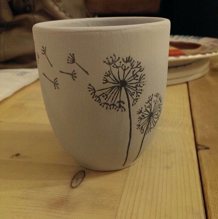 Keramik bemalen @Farbrausch Essen - Juna Jr. #paintedpottery