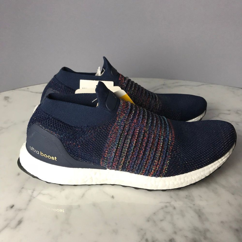 fa8c9194d NEW Adidas Running Ultra Boost Laceless Navy Black White Men CM8269 LIMITED   Adidas  RunningCrossTraining  Laceless  UltraBoost  MyTopSportsHouse