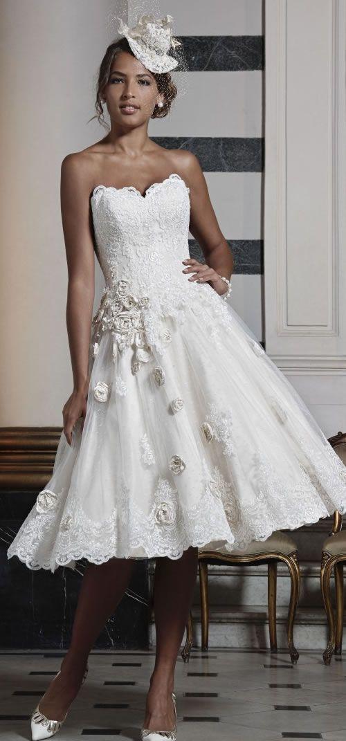 Ian stuart short wedding dress