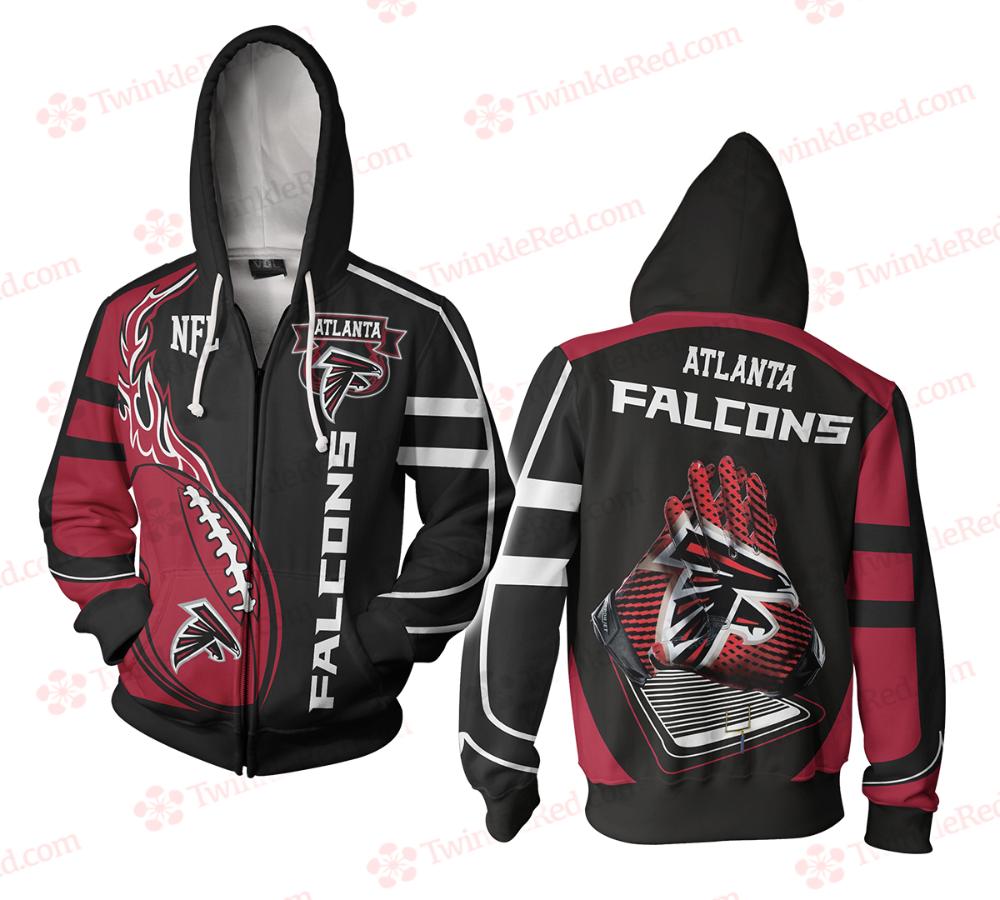 Nfl Football Men S Zip Hoodie Atlanta Falcons Zip Hoodie New Design 2020 Twinklered Com Trong 2020 Cơm