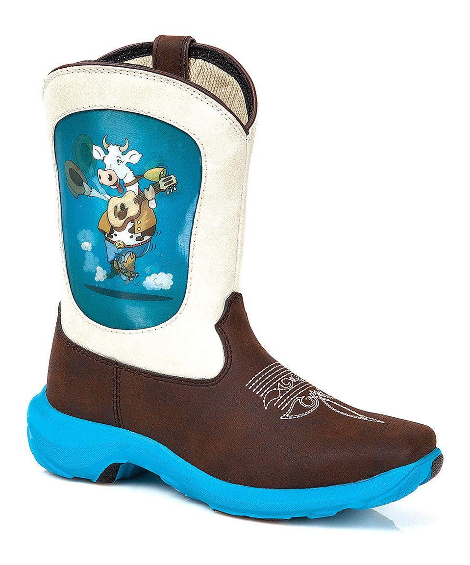 c0f74b3f0e8 Love this Durango Blue   Brown Guitar Cow Cowboy Boot by Durango on   zulily!  zulilyfinds