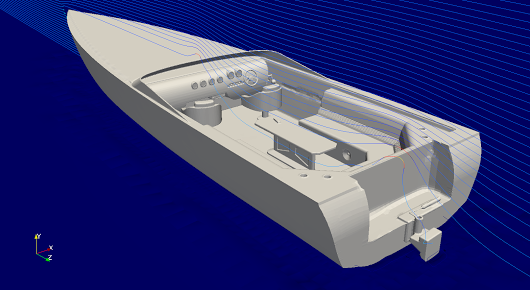 CFD simulation of a speed boat #cfMeshPRO #SimulationFriday