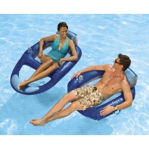 Amazon Com Kelsyus Floating Lounger Sports Outdoors Outdoor Pool Floats Inflatable Beach Chairs