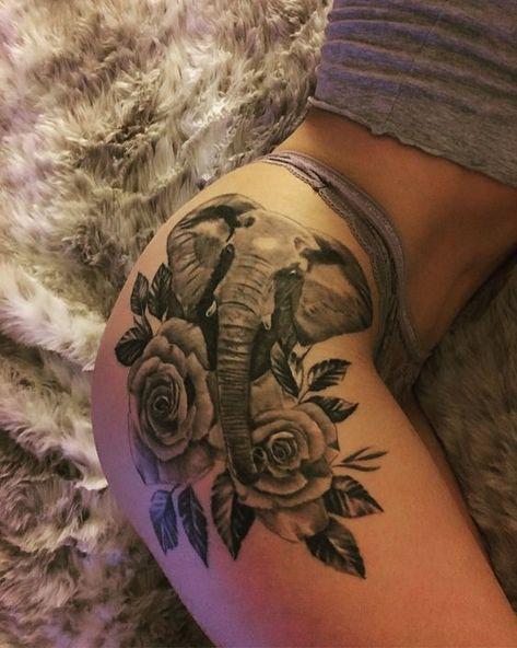 Trendy Tattoo Hip Girl Flower Ideas