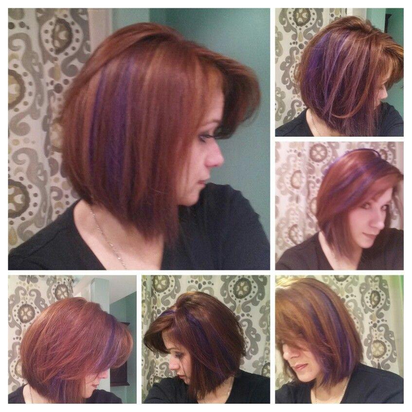 I Miss This Red Hair With Purple Peekaboo Highlights Peekaboo