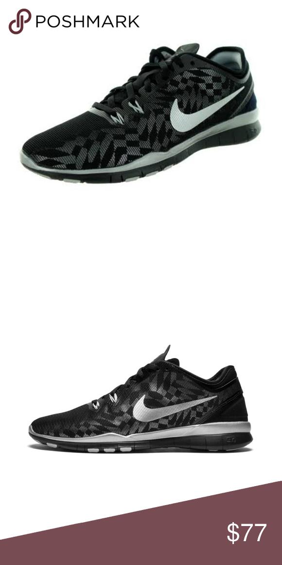 b0fabd5e2c75 Nice Nike Free 5.0 Tr Fit Metallic BLACK Add a dash of heavy metal to your