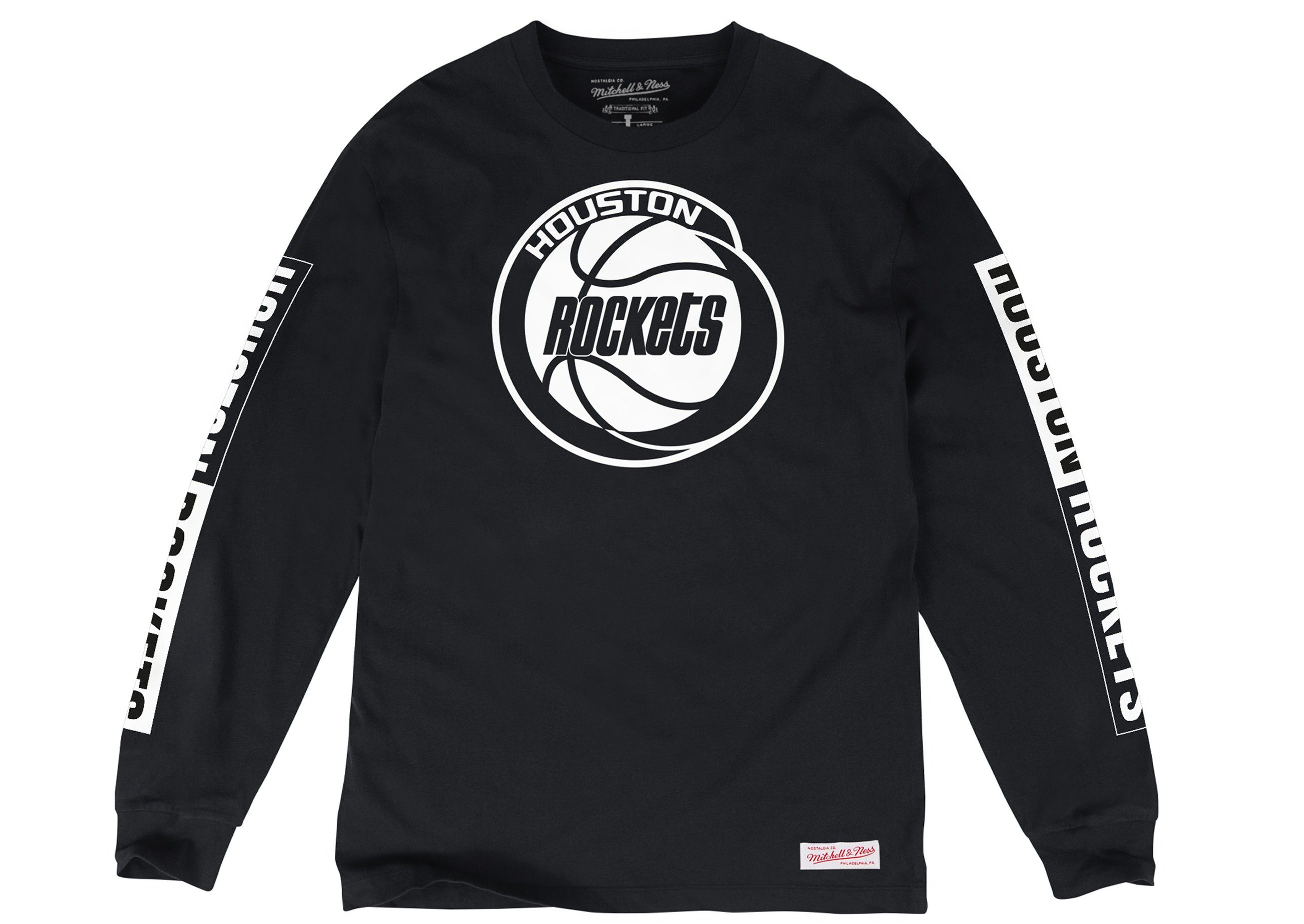 e7dddfc97ca Free Throw Longsleeve Tee Houston Rockets - Shop Mitchell   Ness NBA Shirts  and Apparel