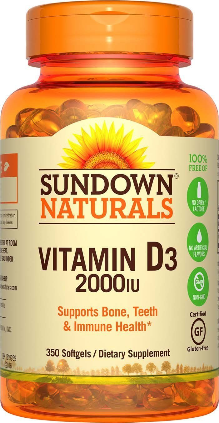 Sundown Naturals Vitamin D3 2000 IU, 350 Softgels >>> Read more reviews of the product by visiting the link on the image. (This is an Amazon Affiliate link and I receive a commission for the sales)