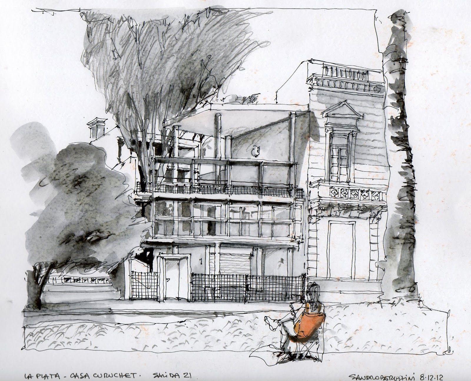 Croquiseros Urbanos: la ciudad a mano alzada en Argentina | Boceto  arquitectónico, Croquis arquitectura, Bocetos arquitectura