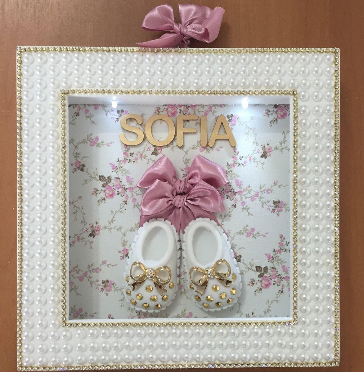 Quadro porta maternidade personalizado com o nome luz de for Porta quadro da appoggio