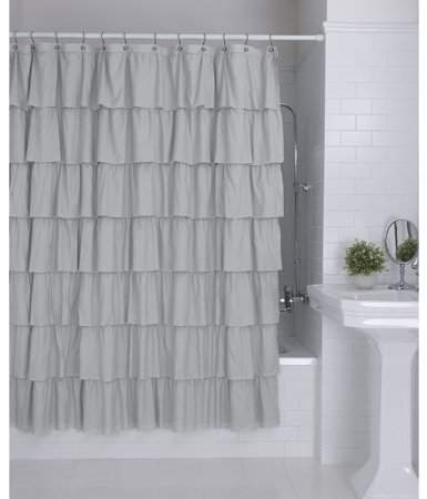Home In 2020 Ruffle Shower Curtains Shower Curtain Shower