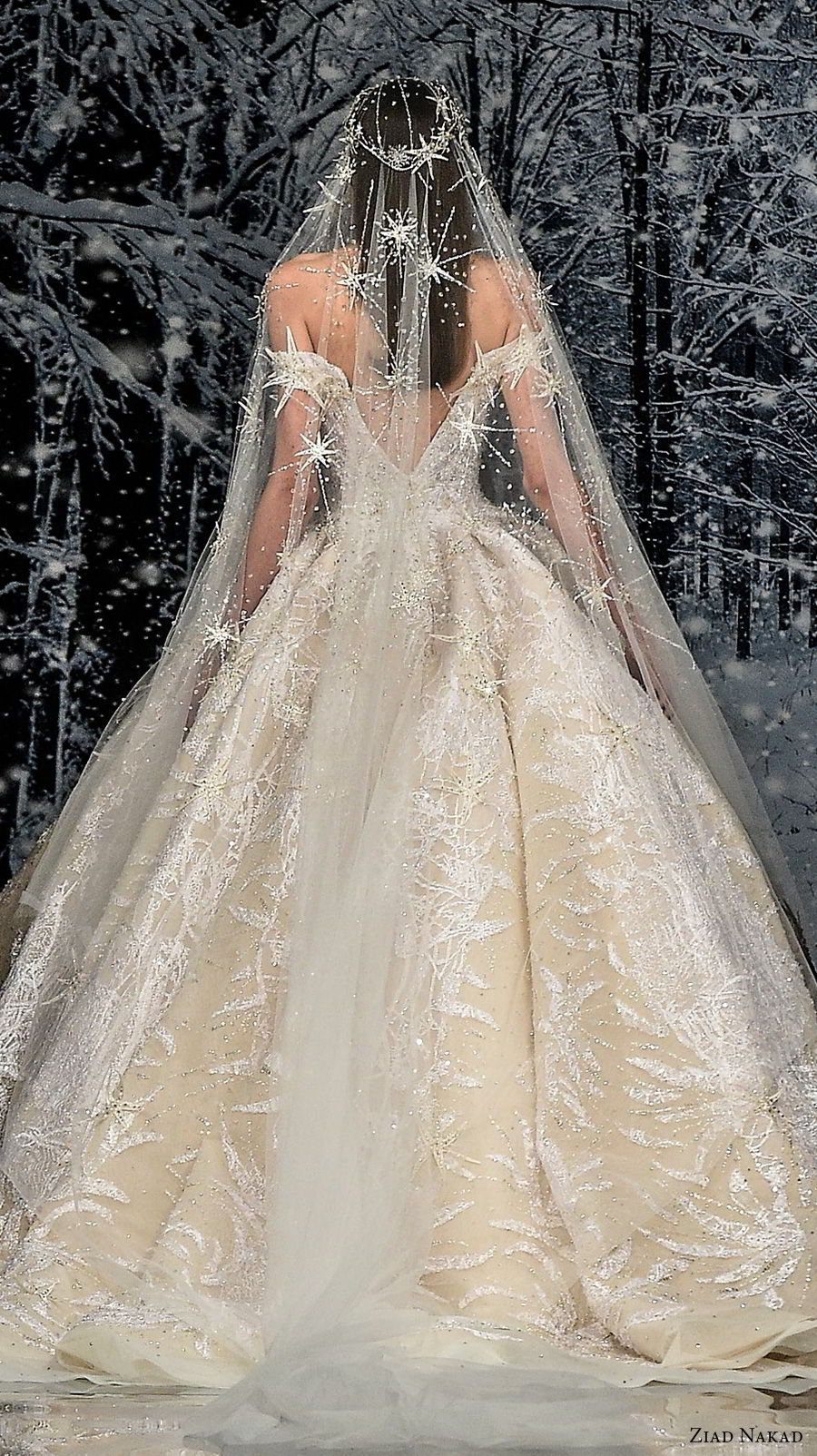 """Ziad Nakad Couture Fall 2017 Dresses — """"The Snow Crystal"""" Collection"""