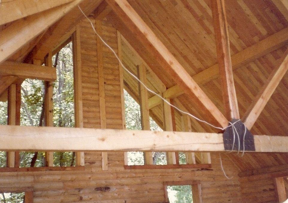 Log Cabin Truss Roof Log homes, Cabin, Kit homes