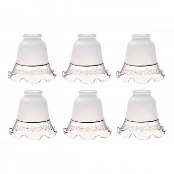 6 Glass Lamp Shades Frosted Glass Tulip 4 5 Antique Lamp